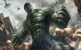 Обои ярость, Hulk, халк