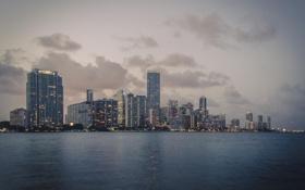 Обои небо, тучи, Майами, вечер, Флорида, Miami, florida