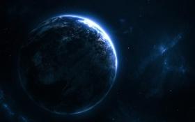 Обои звезды, stars, голубая планета, blue planet