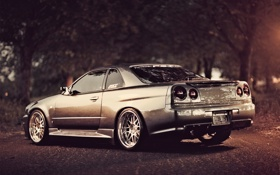 Обои машина, авто, тюнинг, ниссан, Nissan Skyline, R34, скай