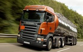 Обои грузовик, танкер, автомобили, trucks, scania