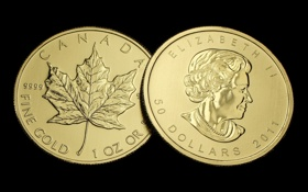 Обои gold, Canada, money, coin