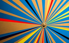 Обои лучи, линии, цвет, плоскость, шестигранник