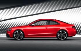 Обои Audi, Красный, Авто, Ауди, RS5, Купэ, Вид сбоку