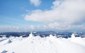 Картинка облака, снег, горы