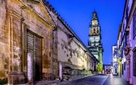 Обои город, улица, здания, дома, вечер, Испания, Spain