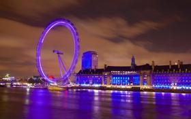 Обои англия, лондон, колесо