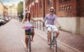 Картинка любовь, радость, счастье, пара, love, steam, велосипеды