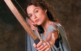 Картинка девушка, лицо, фильм, волосы, актриса, лук, стрела