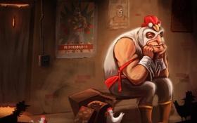 Картинка маска, боец, цыпленок, рестлер, mexican, wrestler, el pollo loco