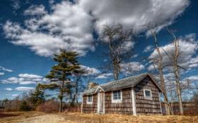 Картинка небо, пейзаж, дом, United States, Massachusetts