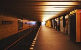 Обои путь, метро, станция, под землей
