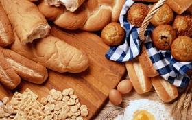 Картинка яйцо, корзина, печенье, мука, булочка, еда, хлеб