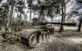 Обои оружие, фон, танк