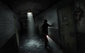 Обои путь, картинки, человек, тень, ада, психушка, arkham sanitarium