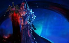 Обои девушка, меч, арт, Guild Wars 2, magicnaanavi, Guardian Diva