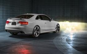 Обои Audi, Ауди, белая, white, Купэ