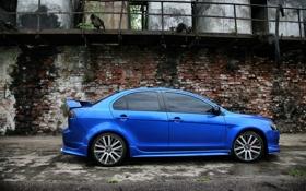 Обои Mitsubishi, Blue, Lancer