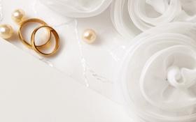 Картинка кольца, ткань, жемчуг