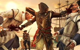 Обои Assassin's Creed IV, пират, Адеваль, Крик Свободы, Black Flag, ассасин