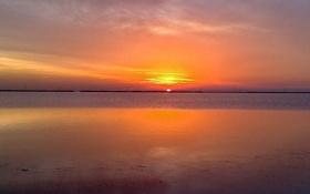 Обои river, sea, sunset, lake, sun, rise, shot