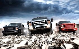 Обои небо, Ford, Форд, передок, Super Duty, F-350, пикап.джип.внедорожник
