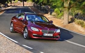Картинка Красный, Авто, BMW, Машина, Поворот, БМВ, Капот