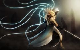 Обои крылья, меч, Diablo, Fan Art, Tyreal
