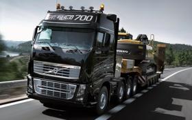 Обои Дорога, Volvo, Грузовик, FH16, 700, Трактор