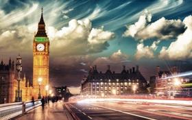 Обои London, England, Big Ben, Tower