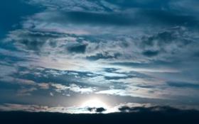 Картинка закат, облака, солнце