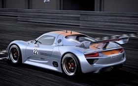 Картинка Concept, скорость, Porsche, концепт, суперкар, порше, 918