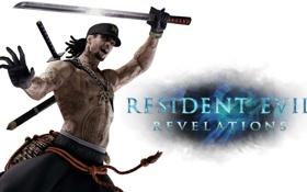 Обои меч, тату, Resident Evil, ninja, Resident Evil: Revelations, Keith Lumley, Biohazard: Revelations