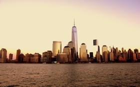 Обои город, здания, дома, Нью-Йорк, небоскребы, USA, США