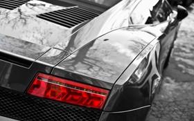 Картинка Lamborghini, фара, Gallardo, кабриолет, вид сзади, ламборджини, Spyder