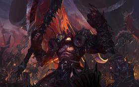 Обои оружие, кровь, доспехи, черепа, WoW, World of Warcraft, цепи