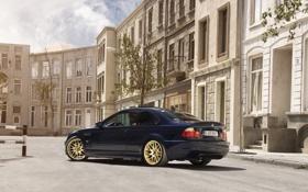 Картинка черный, бмв, BMW, black, tuning, E46