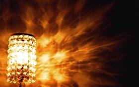 Обои свет, лампа, тень, ночник