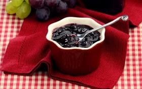 Обои spoon, ложка, варенье, napkin, jam, салфетка