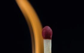 Обои фон, огонь, пламя, спичка