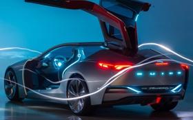 Обои авто, Concept, свет, огни, двери, концепт, красивое