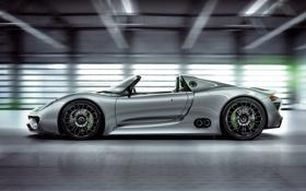 Картинка Concept, Porsche, концепт, суперкар, порше, вид сбоку, Spyder