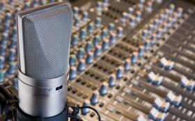 Обои пульт, микрофон, студия