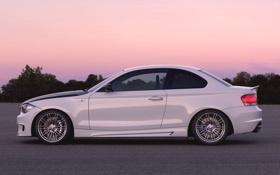 Обои Вечер, Авто, Белый, BMW, Машина, БМВ, Купэ