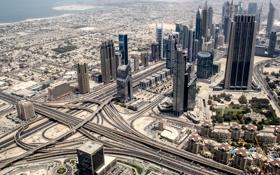 Картинка город, пустыня, Дубай, ОАЭ