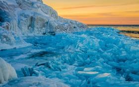 Картинка снег, Природа, лёд, Арктика