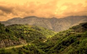Обои горы, Испания, небо, дорога