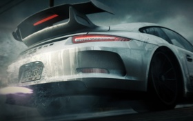 Обои капли, porsche, Need for Speed Rivals