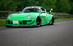 Обои Porsche, 993, RWB Rough rhythm