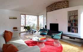 Обои дизайн, стиль, интерьер, гостиная, жилая комната